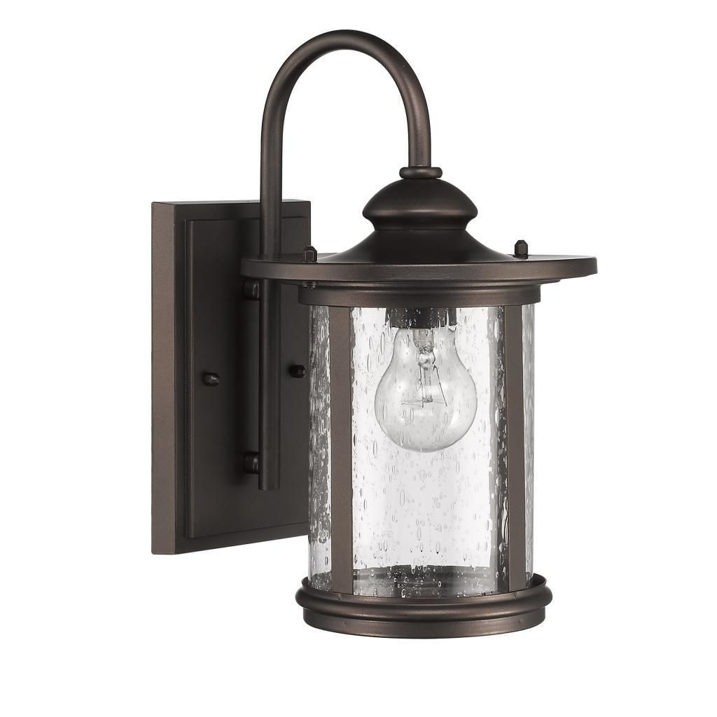 Chloe Transitional 1 Light Rubbed Bronze Outdoor Wall Light (Rubbed Pertaining To Aluminum Outdoor Wall Lighting (#4 of 15)