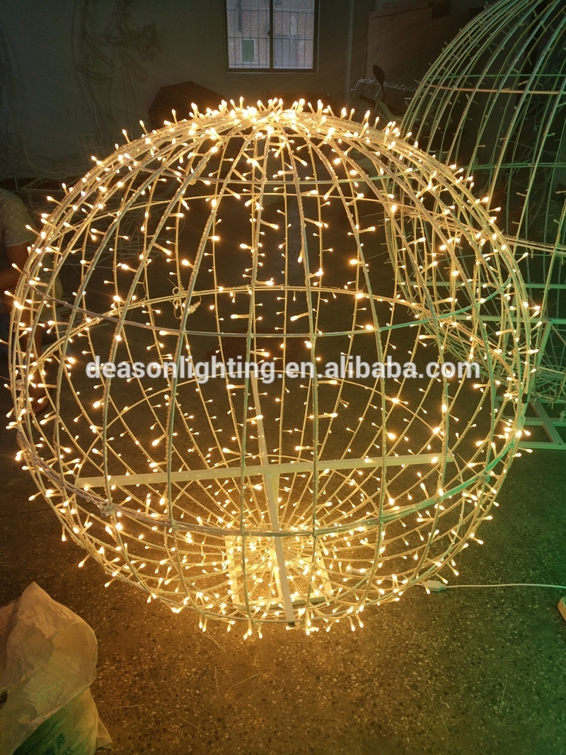 Christmas Large Outdoor Led Sphere Waterproof Ball Light,outdoor Pertaining To Outdoor Hanging Light Balls (View 13 of 15)