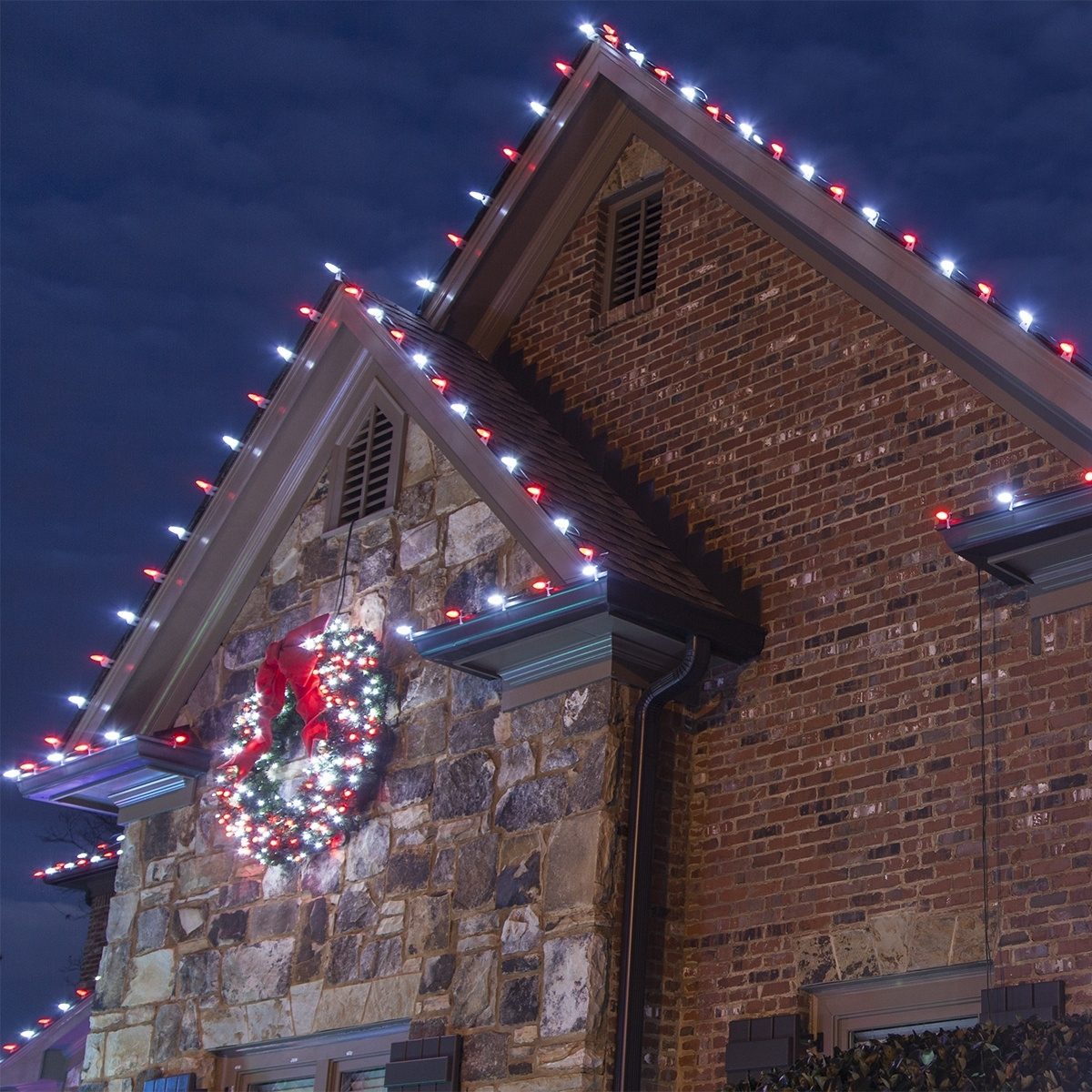 15 best collection of hanging outdoor christmas lights in roof