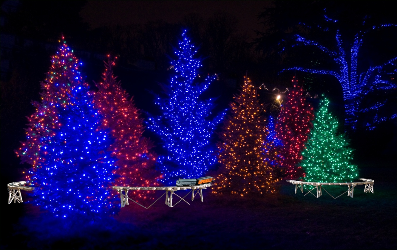 Christmas Stage Decoration | It's Beginning To Look A Lot Like For Hanging Outdoor Christmas Lights In Trees (#5 of 15)