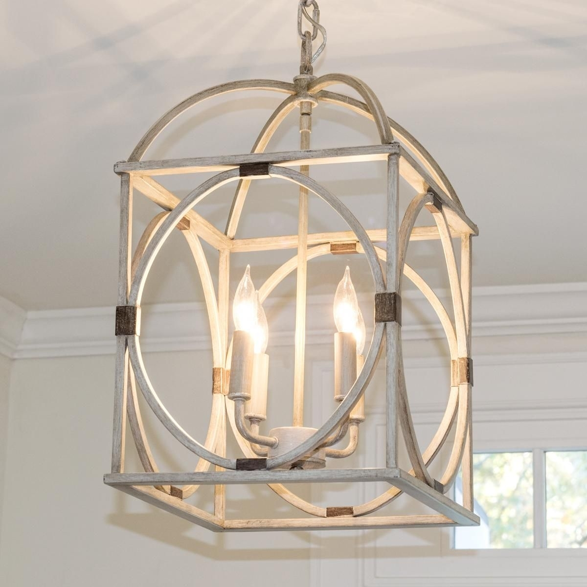 Circle Lattice Hanging Lantern | Hanging Lanterns, Light Oak And Lights Inside Outdoor Hanging Lights Masters (View 6 of 15)