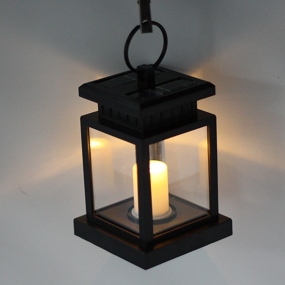 Classic Outdoor Solar Power Twinkle Yellow Led Candle Light Yard With Solar Powered Outdoor Hanging Lanterns (#2 of 15)