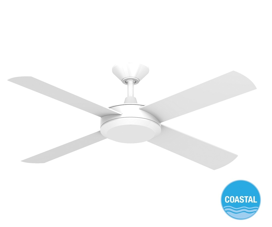 Concept Ii 2014 132Cm Timber Blade Fan In White With Outdoor Ceiling Fan Beacon Lighting (#7 of 15)