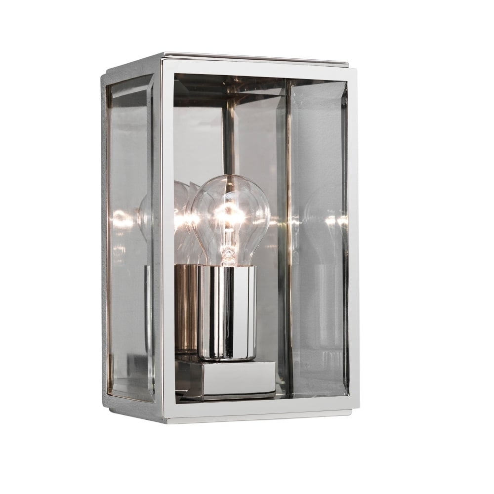 Contemporary Polished Nickel Outdoor Box Wall Lantern With Nickel Polished Outdoor Wall Lighting (#12 of 15)