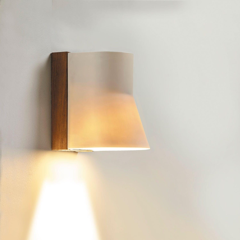 Contemporary Wall Light / Outdoor / Teak / Porcelain – Beacon Wall Within Beacon Outdoor Wall Lighting (#3 of 15)