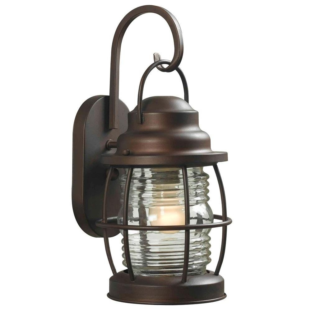 Copper – Outdoor Wall Mounted Lighting – Outdoor Lighting – The Home Inside Modern Rustic Outdoor Lighting At Home Depot (#2 of 15)