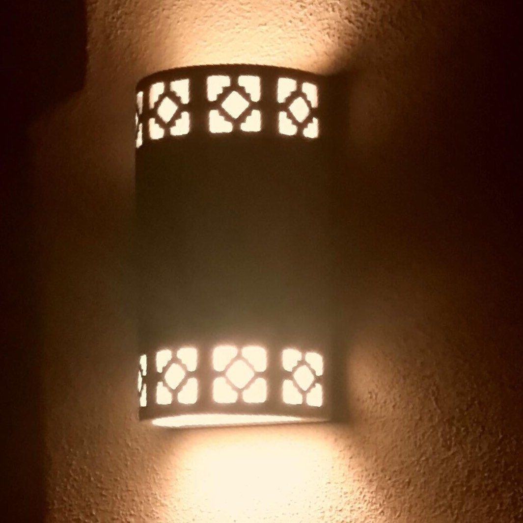 Cortez Cutout, Outdoor Wall Sconces, 24Ct Gold,made In The Usa With Regard To Made In Usa Outdoor Wall Lighting (#2 of 15)