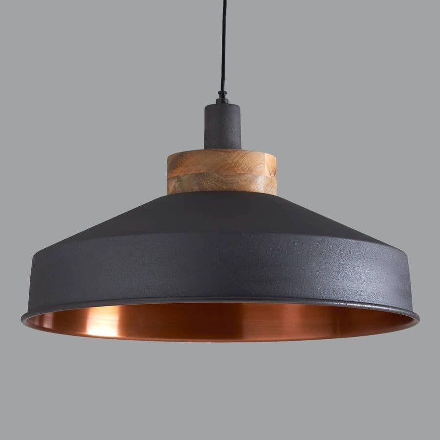 Cosmos Graphite And Copper Pendant Light | Graphite, Pendant Inside South Africa Outdoor Hanging Lights (#1 of 15)
