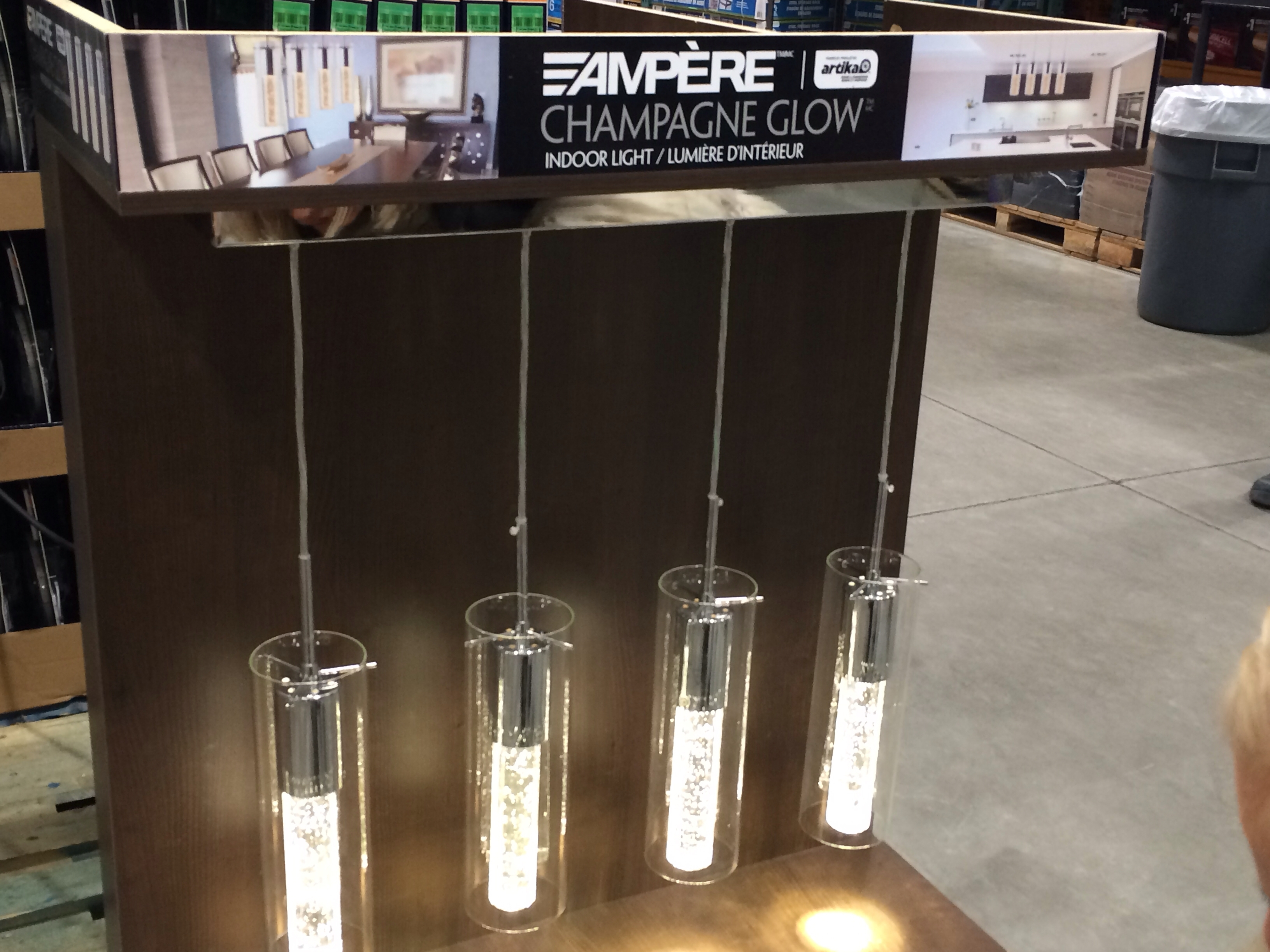 Costco: Ampère Champagne Glow Indoor Light (#6 of 15)