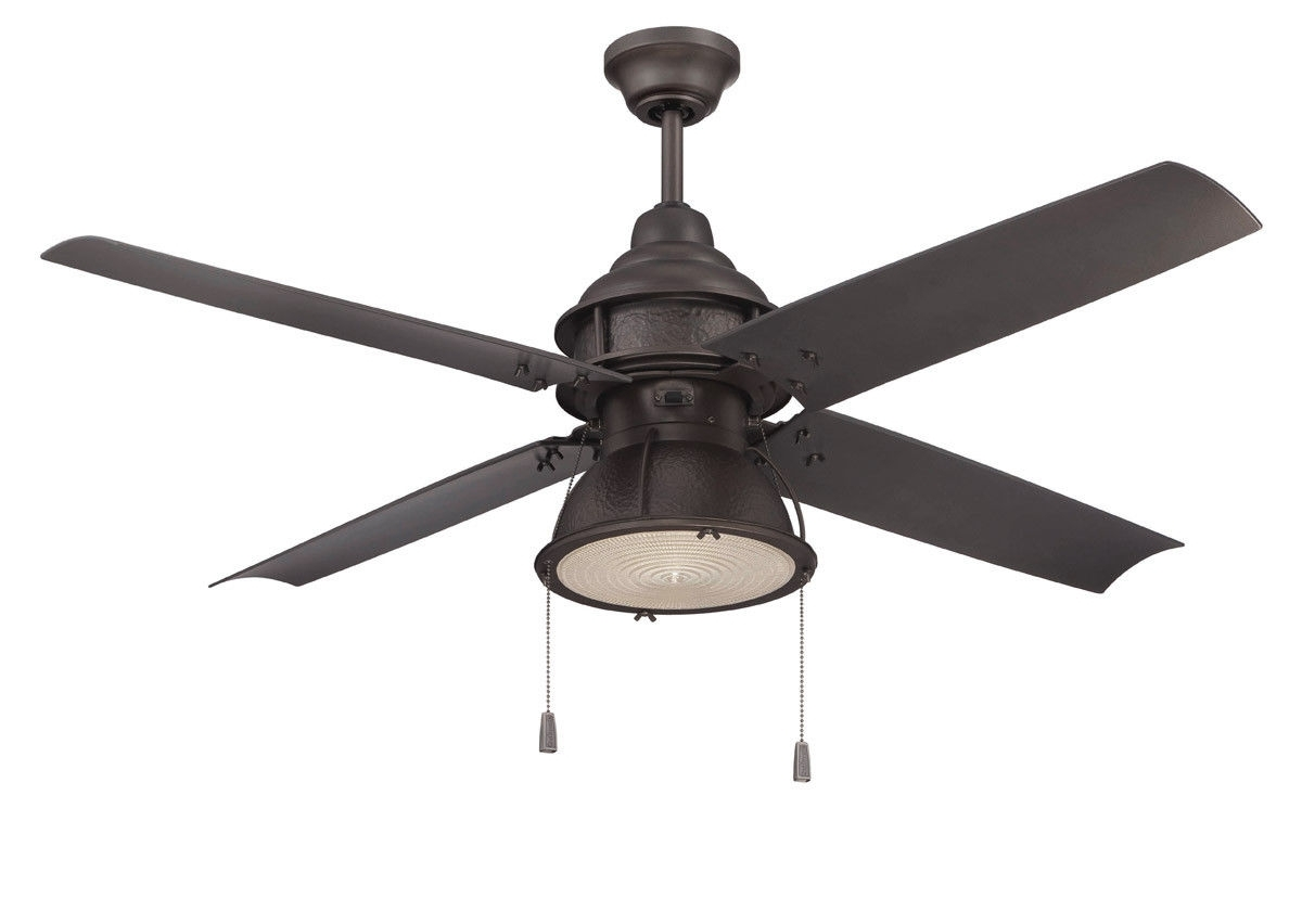 Craftmade Par52Esp4 Port Arbor 52 Inch Espresso Outdoor Ceiling Fan Pertaining To Outdoor Ceiling Fans With Lights At Ebay (#8 of 15)