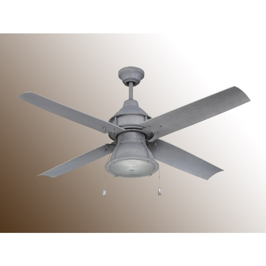 Craftmade Port Arbor Ceiling Fan – 3 Finish Choices – Par52Ri4 In Galvanized Outdoor Ceiling Lights (#1 of 15)