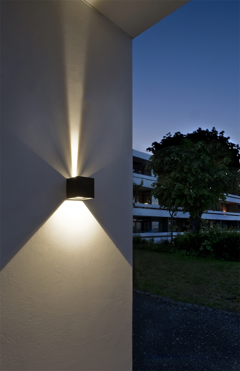 Cube Led Outdoor Wall Lamp From Light Point As Design: Ronni Gol Www Regarding Outdoor Wall Lighting At Ebay (#3 of 15)