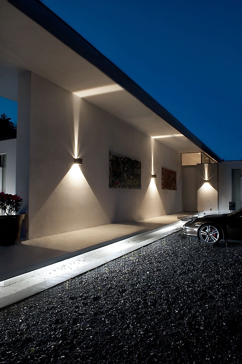 Cube Led Outdoor Wall Lamp From Light Point As Design: Ronni Gol Www With Regard To Modern Outdoor Lighting (#4 of 15)
