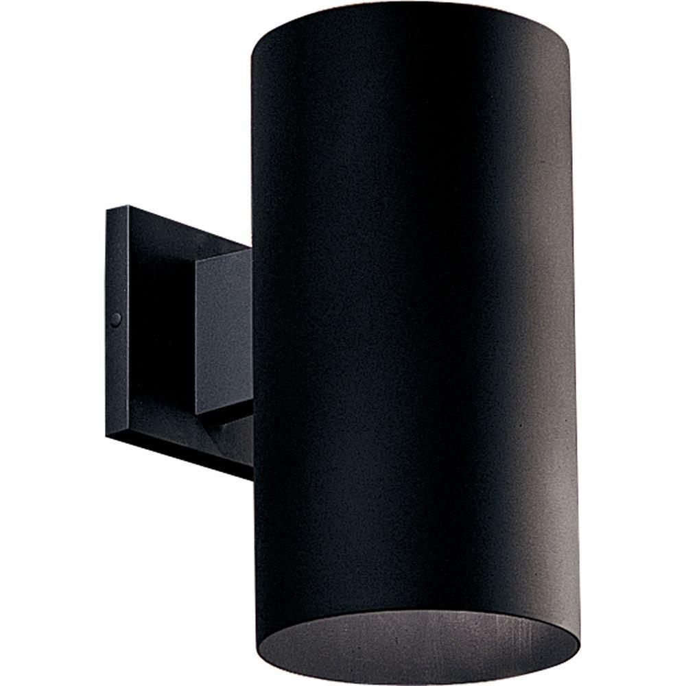 Cylinder Lights – Black – Modern – Outdoor Wall Mounted Lighting For Modern Outdoor Light Fixtures At Home Depot (#2 of 15)