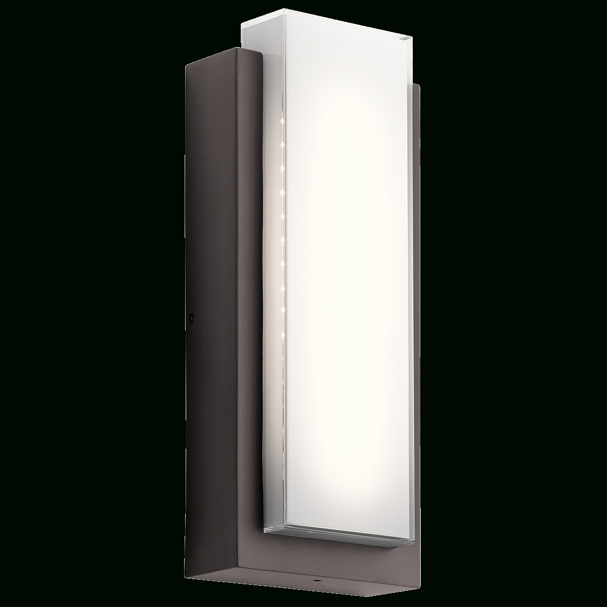 Dahlia 1 Light Led Outdoor Wall Light In Architectural Bronze (Az Throughout Contemporary Outdoor Wall Lighting Sconces (#4 of 15)