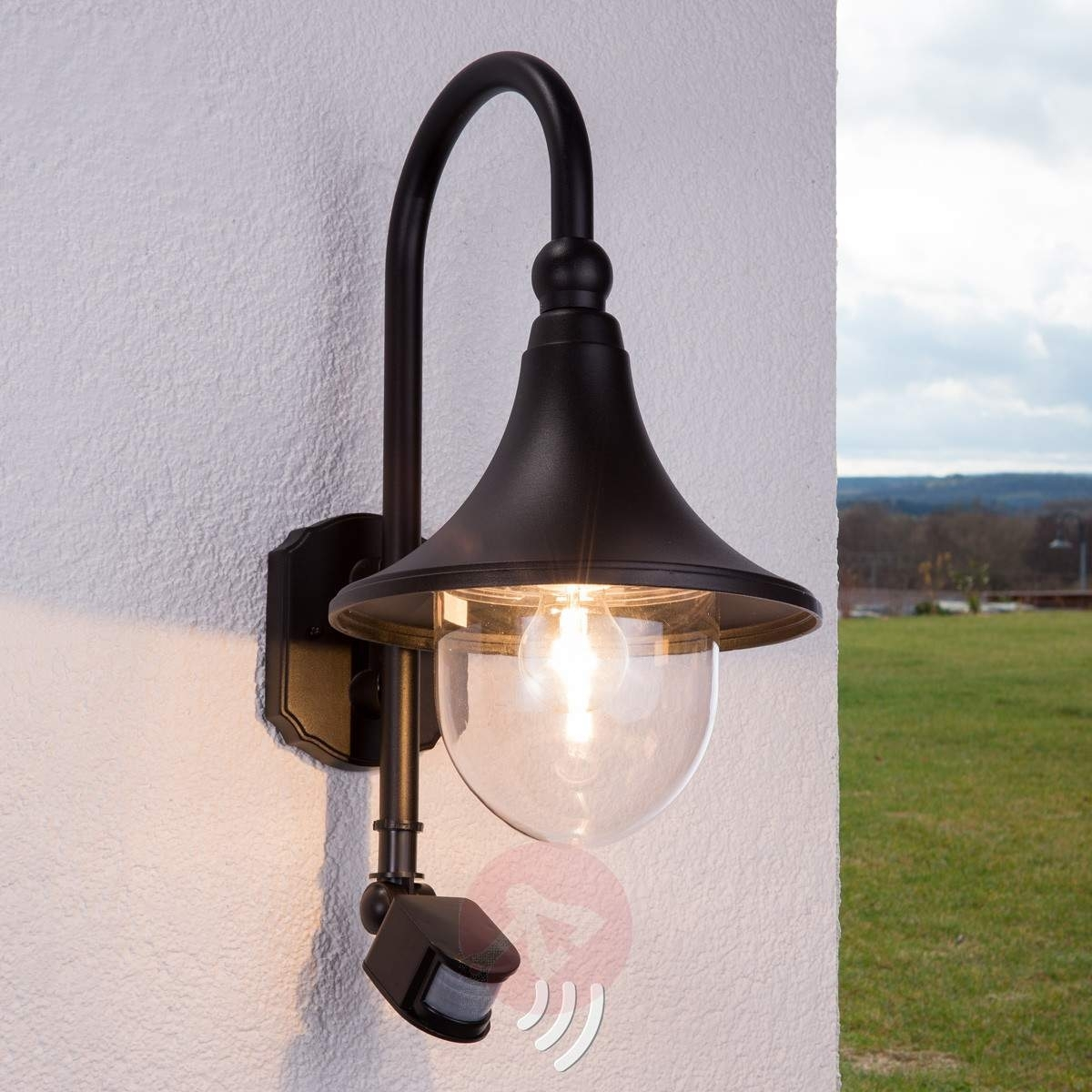 Inspiration about Daphne Outdoor Wall Light With Sensor | Lights.co.uk For Outdoor Wall Lighting With Sensor (#5 of 15)