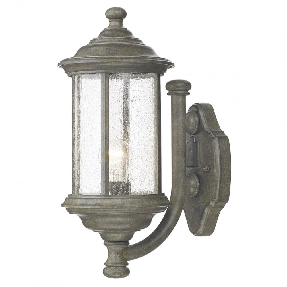 Dar Dar Bro1661 Brompton 1 Light Outdoor Wall Light Ip43 Old Iron Intended For Traditional Outdoor Wall Lights (#4 of 15)