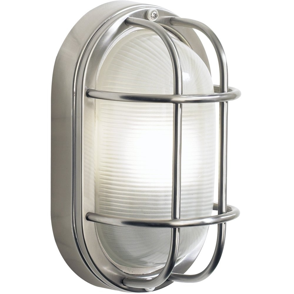 Inspiration about Dar Lighting Salcombe Large Oval Stainless Steel Outdoor Wall Light Throughout Stainless Steel Outdoor Ceiling Lights (#10 of 15)