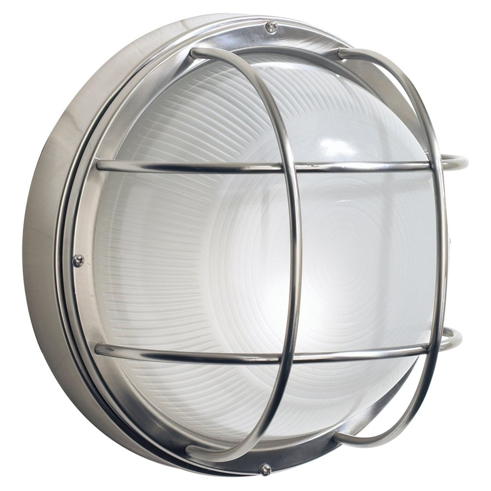Inspiration about Dar Lighting Salcombe Outdoor Large Round Bulkhead Wall Light Inside Outdoor Ceiling Bulkhead Lights (#2 of 15)