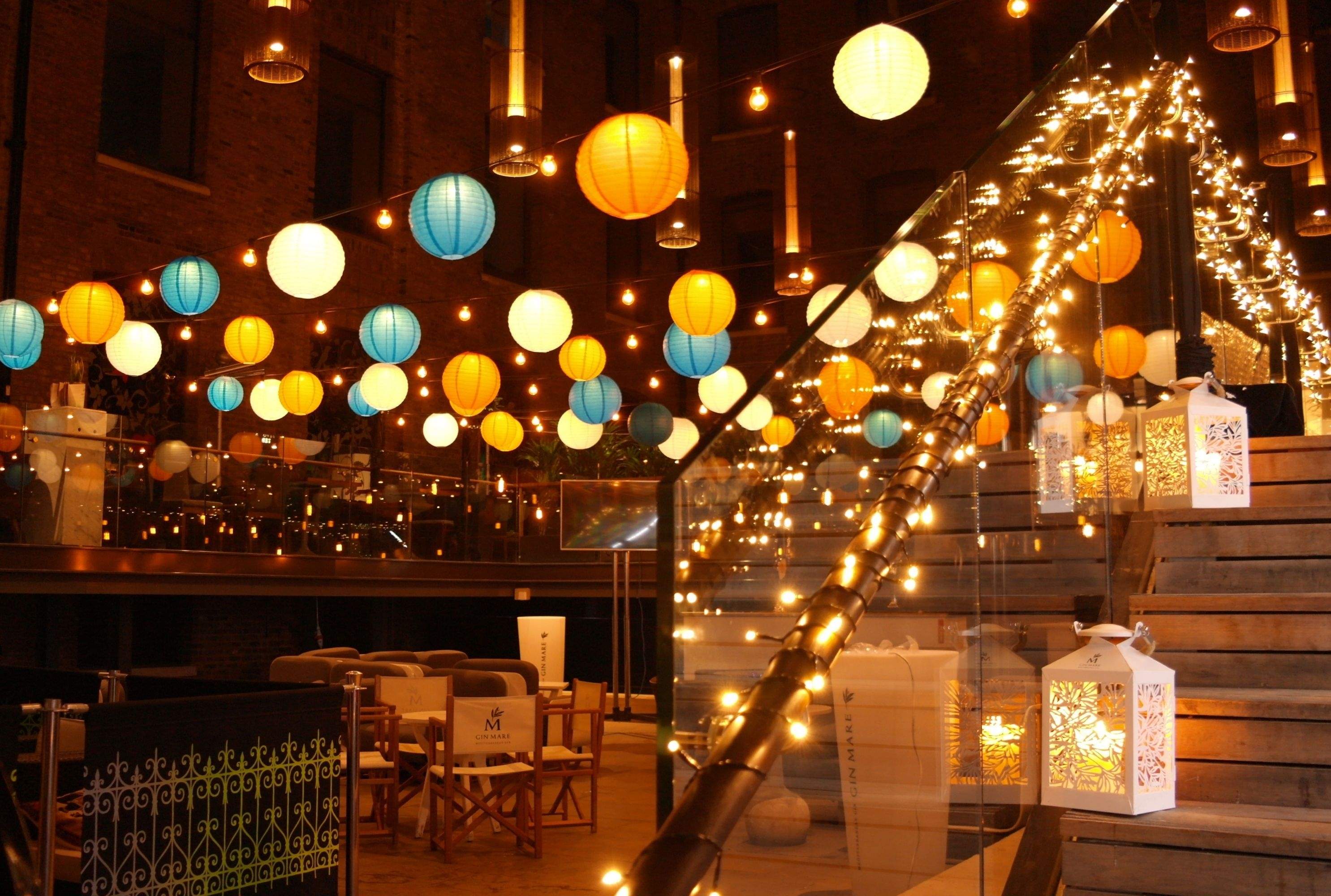Dazzling Paper Lanterns, Pealights, And Vintage Style Lanterns Inside Outdoor Hanging Nylon Lanterns (View 2 of 15)