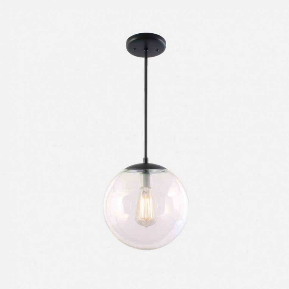 Deco Lamp : Clear Pendant Light Hanging Sphere Lights Globe Glass Pertaining To Outdoor Hanging Sphere Lights (View 11 of 15)