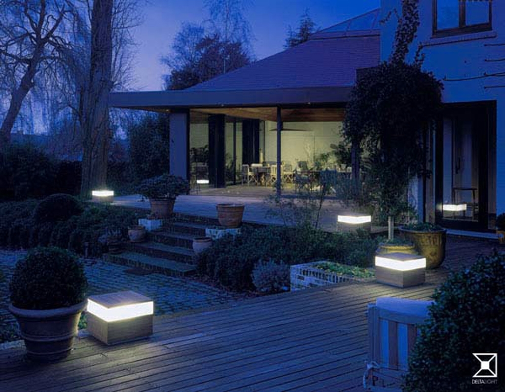 Inspiration about Decorating , Simple Landscape Lighting Ideas To Freshen Up Your Regarding Modern Garden Low Voltage Deck Lighting (#8 of 15)