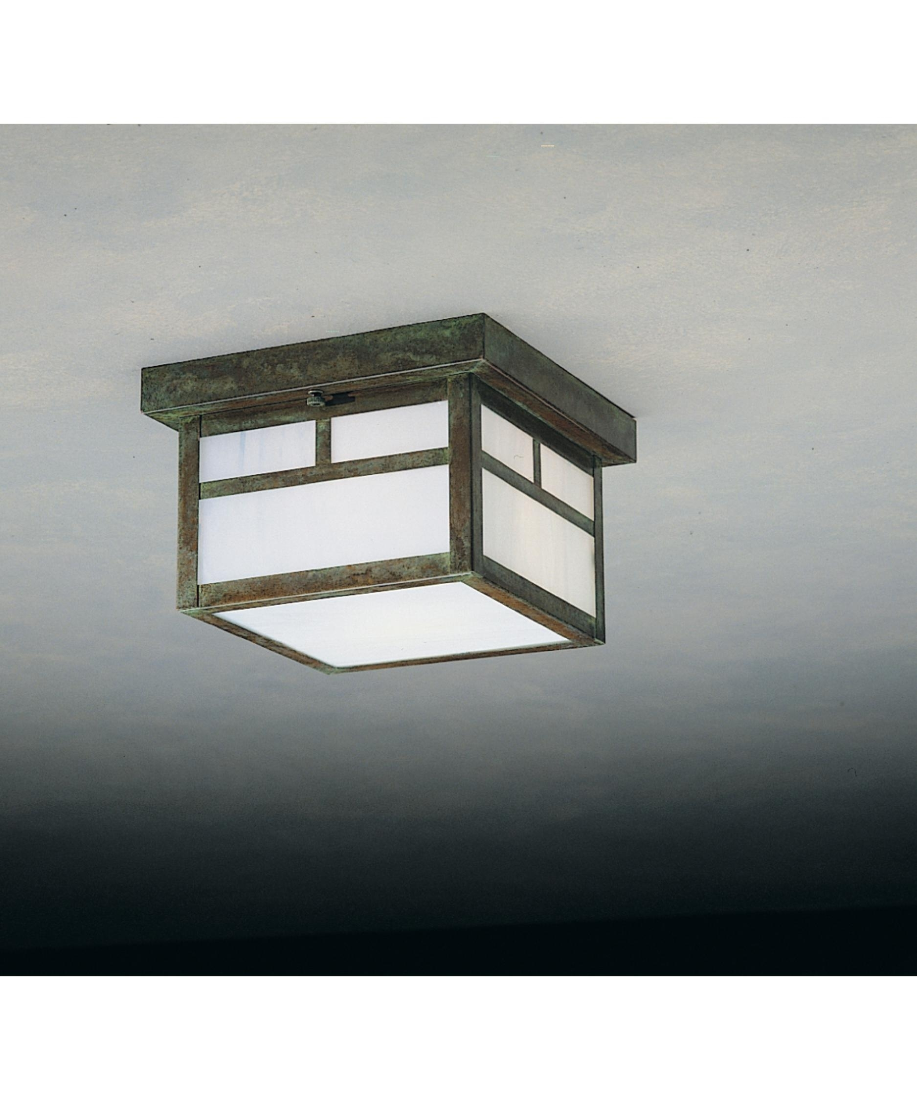 Decoration : Outdoor Ceiling Light Fixtures Bronze Flush Mount In Mission Style Outdoor Ceiling Lights (#5 of 15)