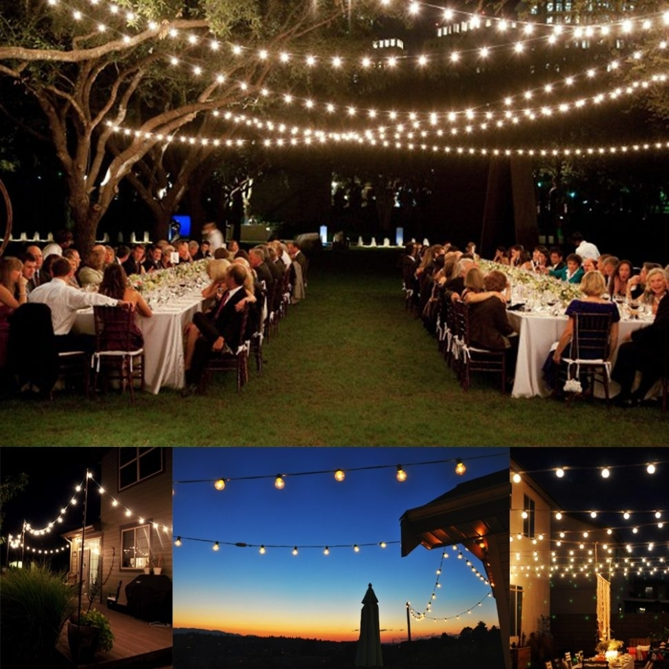Decoration : Vintage Light Bulb String Lights Outdoor Led Patio With Hanging Lights For Outdoor Wedding (#5 of 15)