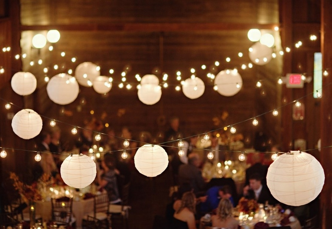 Inspiration about Decoration : White Theme Hanging Paper Lantern Lights For Outdoor Within Outdoor Hanging Globe Lanterns (#6 of 15)