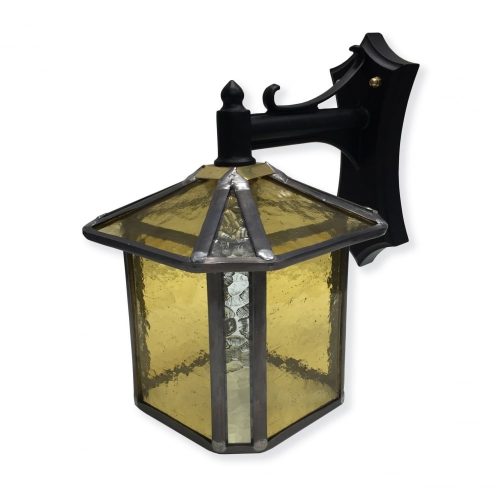 Inspiration about Decorative Gold Stained Glass Outdoor Wall Lantern – Ip23 Rated Pertaining To Stained Glass Outdoor Wall Lights (#5 of 15)