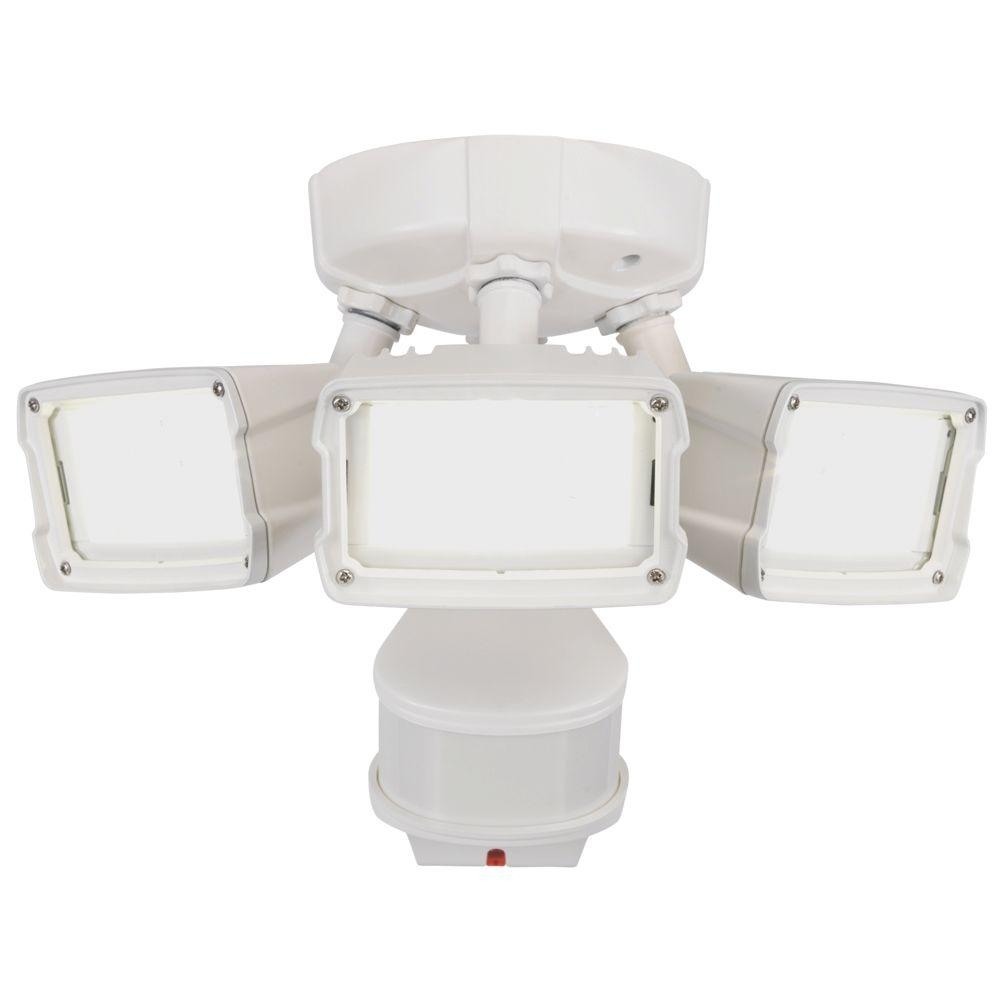 Inspiration about Defiant 270 Degree White Doppler Motion Activated Outdoor Led Inside Outdoor Ceiling Flood Lights (#5 of 15)