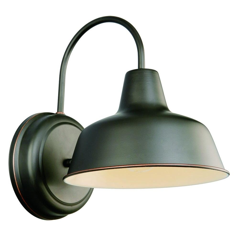 Inspiration about Design House Mason 1 Light Oil Rubbed Bronze Outdoor Wall Sconce Within Outdoor Wall Lighting At Home Depot (#5 of 15)