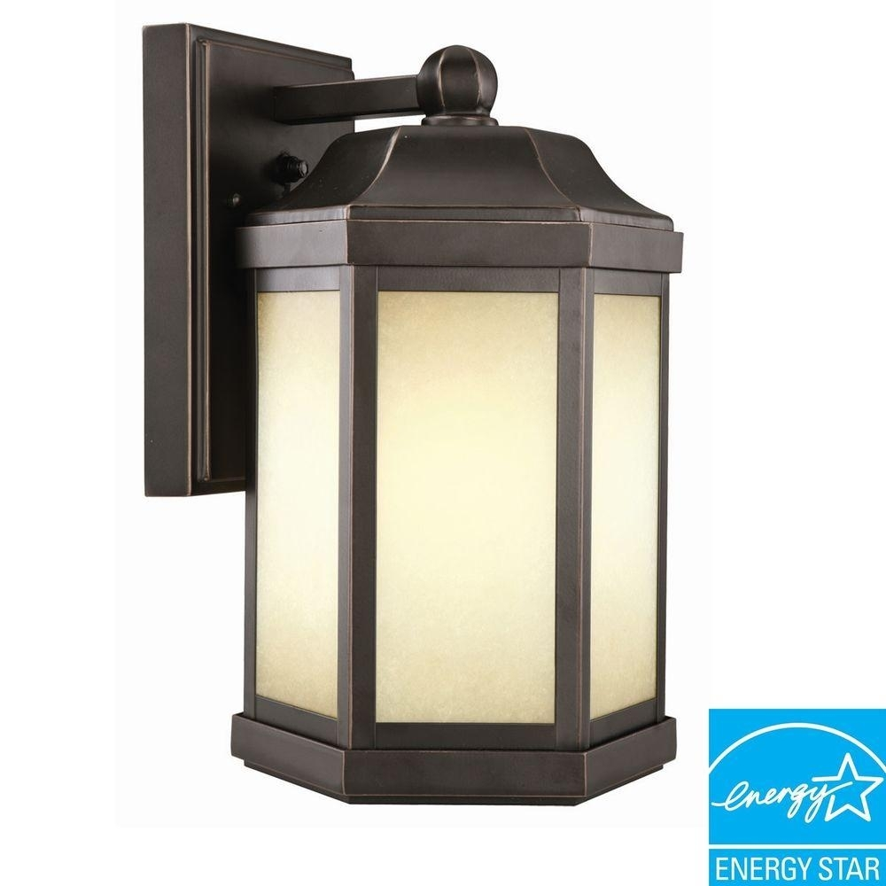 Inspiration about Design House Mason Rlm Oil Rubbed Bronze Outdoor Wall Mount Dark Sky For Outdoor Porch Light Fixtures At Home Depot (#9 of 15)
