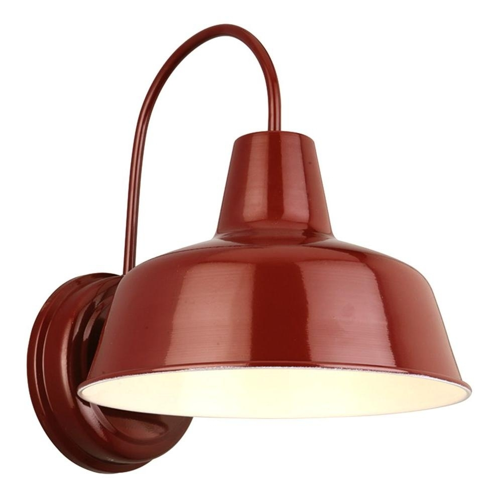 Inspiration about Design House Mason Rlm Red Outdoor Wall Mount Dark Sky Downlight With Regard To Outdoor Wall Lighting At Walmart (#5 of 15)