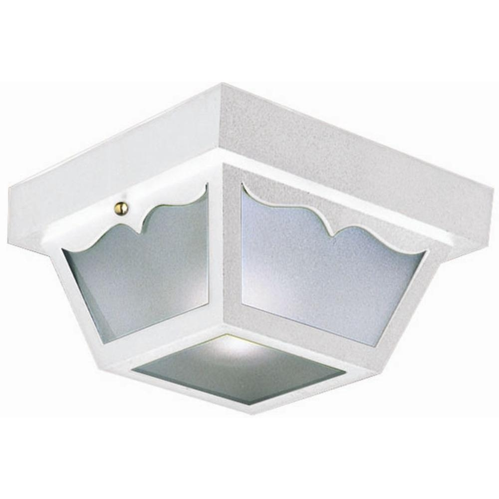 Inspiration about Design House White Outdoor Ceiling Light 501858 – The Home Depot Throughout White Outdoor Ceiling Lights (#3 of 15)