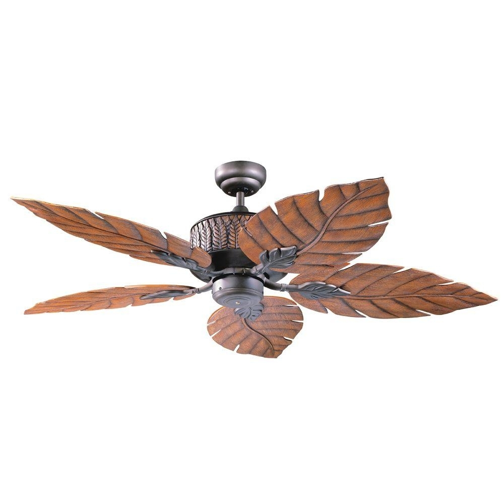Inspiration about Designers Choice Collection Fern Leaf 52 In. Indoor/outdoor Oil Regarding Outdoor Ceiling Fans With Copper Lights (#13 of 15)