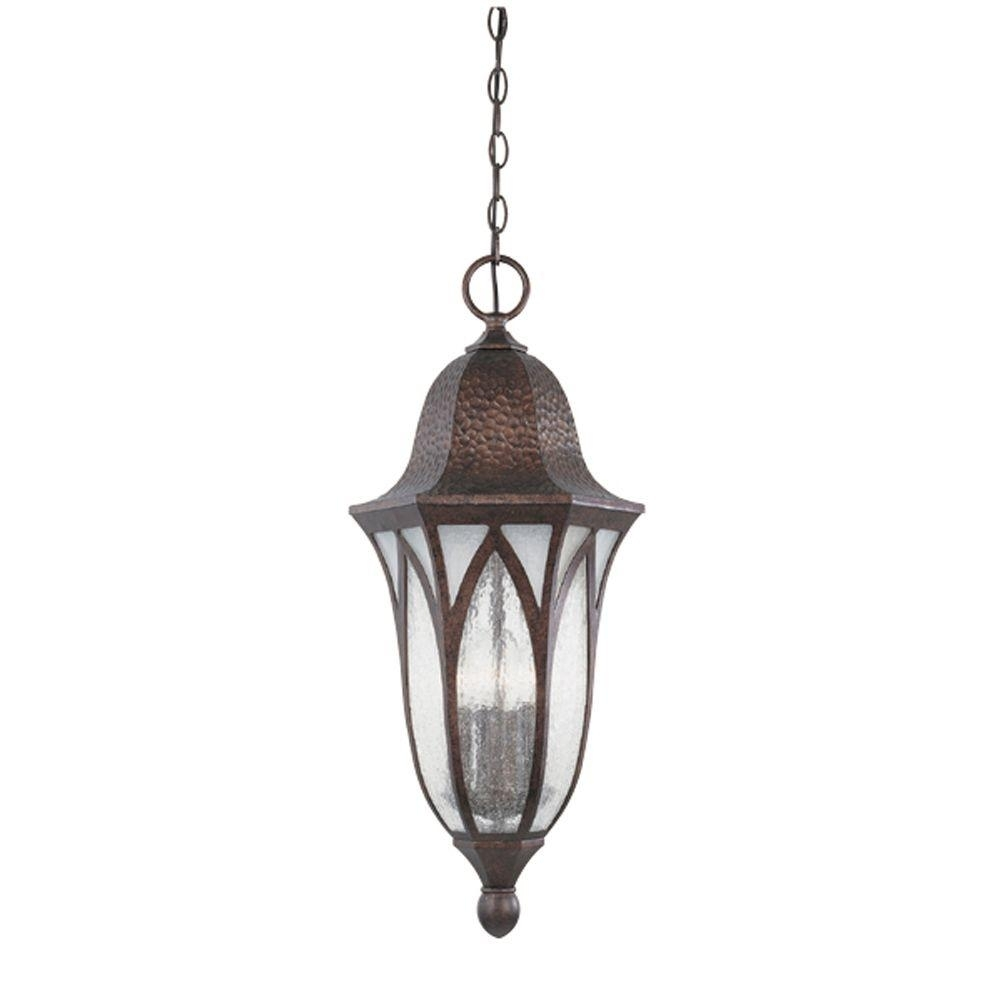 Designers Fountain Charleston 4 Light Burnished Antique Copper With Regard To Antique Outdoor Hanging Lights (#3 of 15)