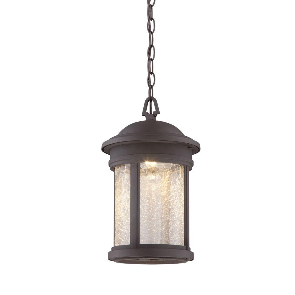 Designers Fountain Prado Oil Rubbed Bronze Outdoor Led Hanging Intended For Diy Outdoor Hanging Lights (#5 of 15)
