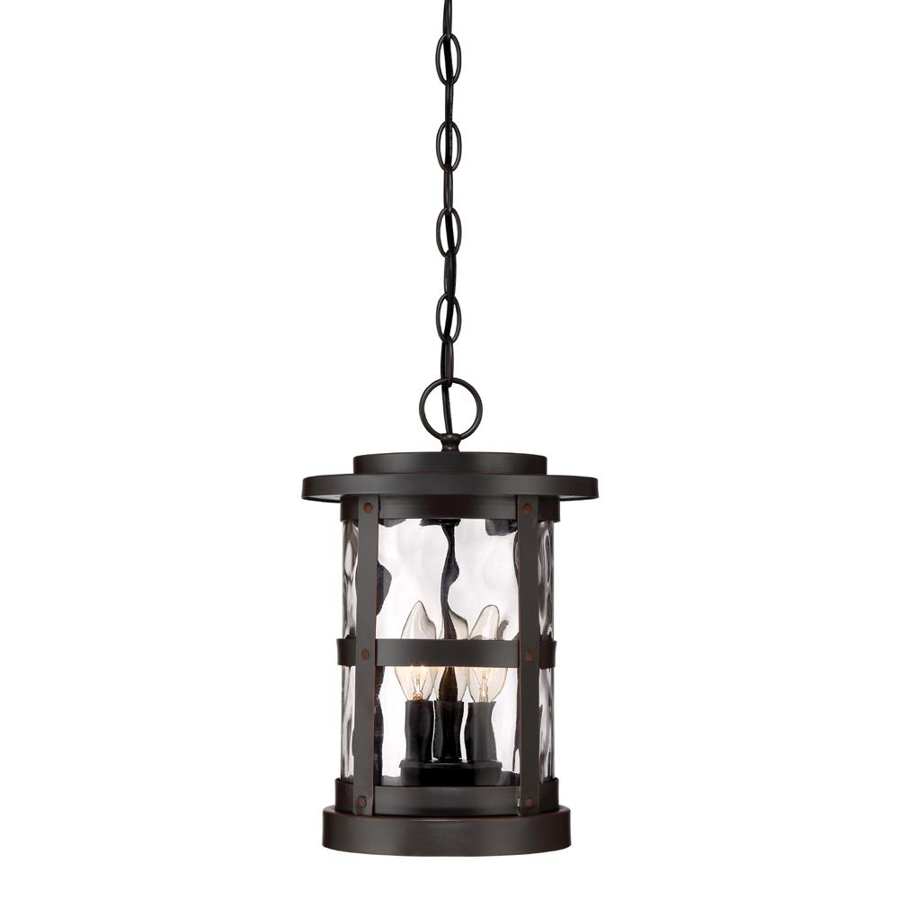 Inspiration about Designers Fountain Terraza 3 Light Satin Bronze Outdoor Hanging Regarding Outdoor Hanging Lanterns With Candles (#11 of 15)