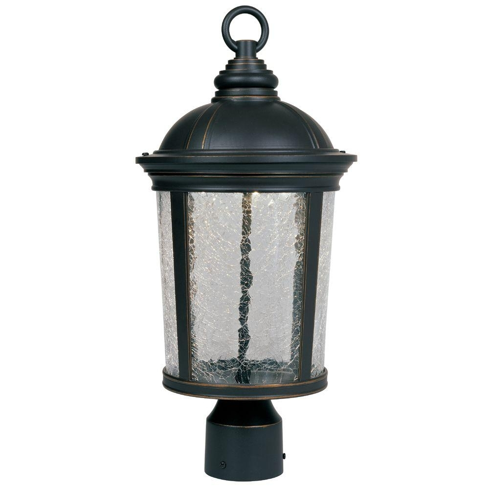 Designers Fountain Winston Aged Bronze Patina Outdoor Led Post Intended For Wayfair Led Post Lights (#2 of 15)