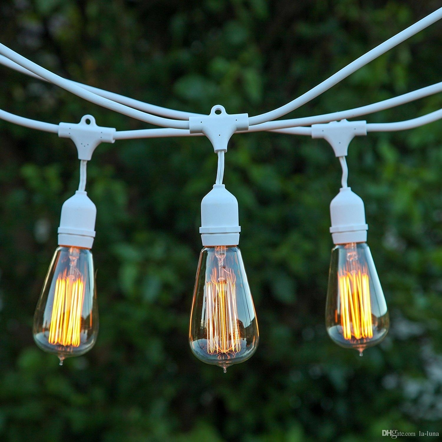 Dhl Outdoor Led Christmas Lights 30Ft Outdoor Weatherproof Regarding Outdoor Hanging String Light Bulbs (#2 of 15)