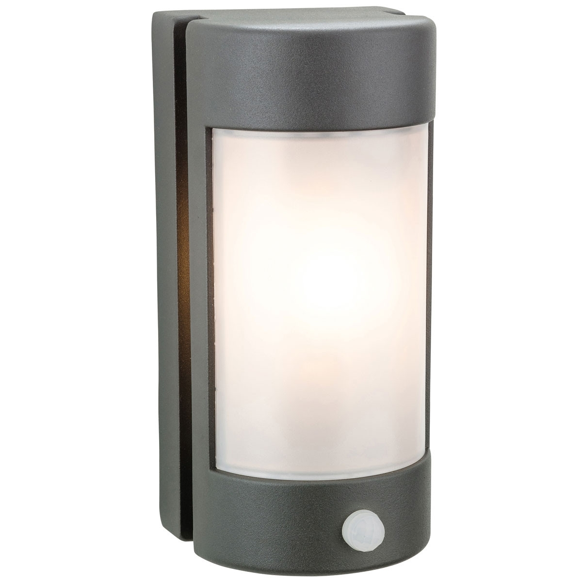 Diecast Aluminium Graphite Outdoor Wall Light With Pir Throughout Outdoor Led Wall Lights With Pir (#2 of 15)