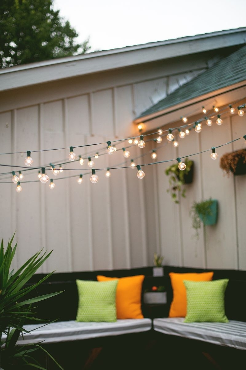 Inspiration about Diy : Amazing How Hang Outdoor Patio String Lights For Wire In Hanging Outdoor Lights With Wire (#7 of 15)