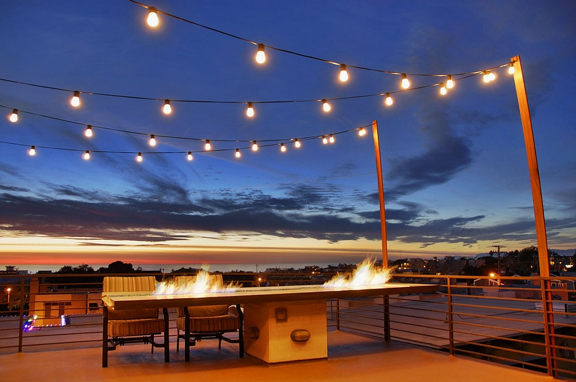 Inspiration about Diy : Best Backyard String Lights Ideas Patio Hanging Outdoor Brick Regarding Hanging Outdoor Lights On Deck (#6 of 15)