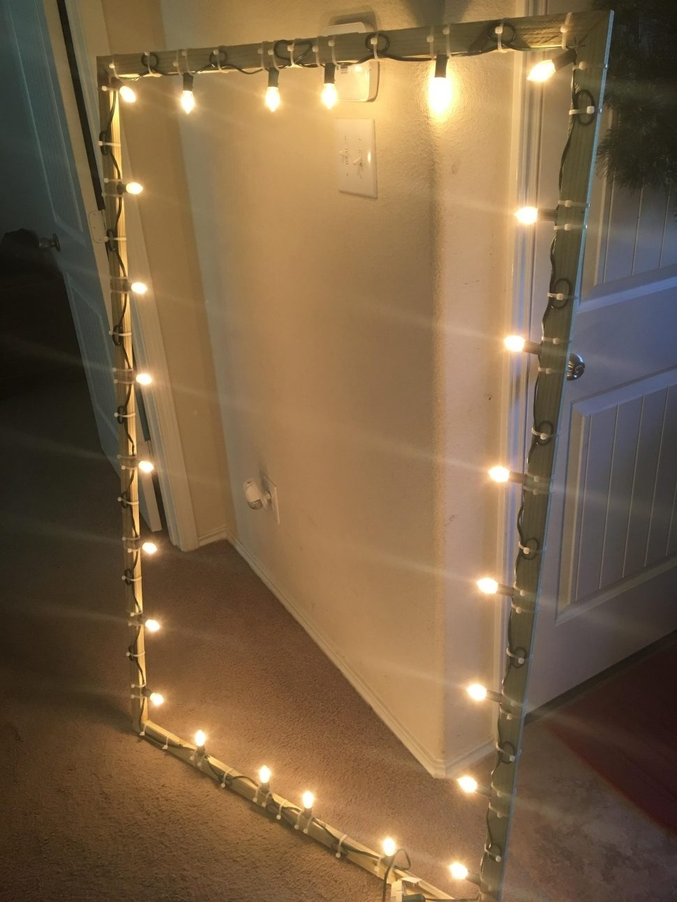 Inspiration about Diy : Christmas Light Window Frame Diy Hang Hanging Zip Ties Holiday Within Hanging Outdoor Christmas Lights Without Nails (#6 of 15)