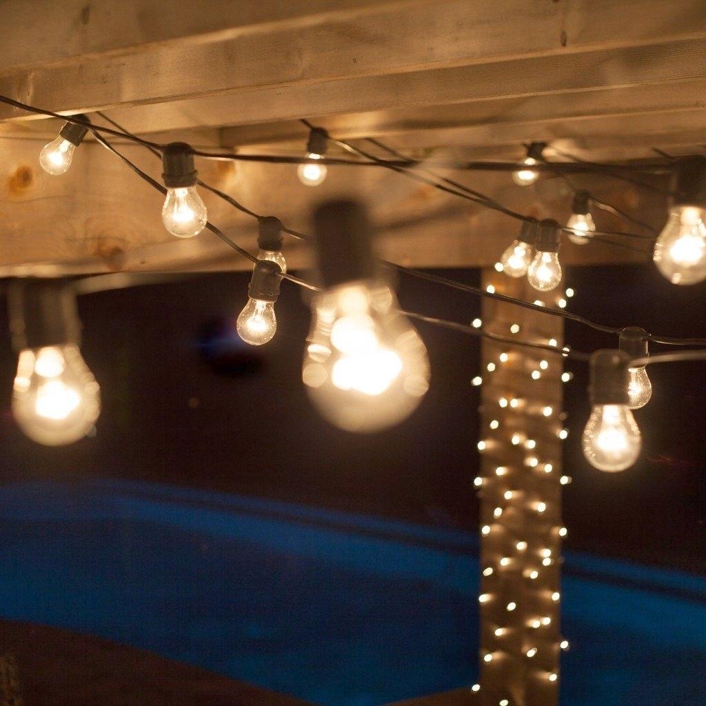 Inspiration about Diy : Garden String Lights Home Depot Design Outdoor Delightful Throughout Hanging Outdoor String Lights At Home Depot (#5 of 15)