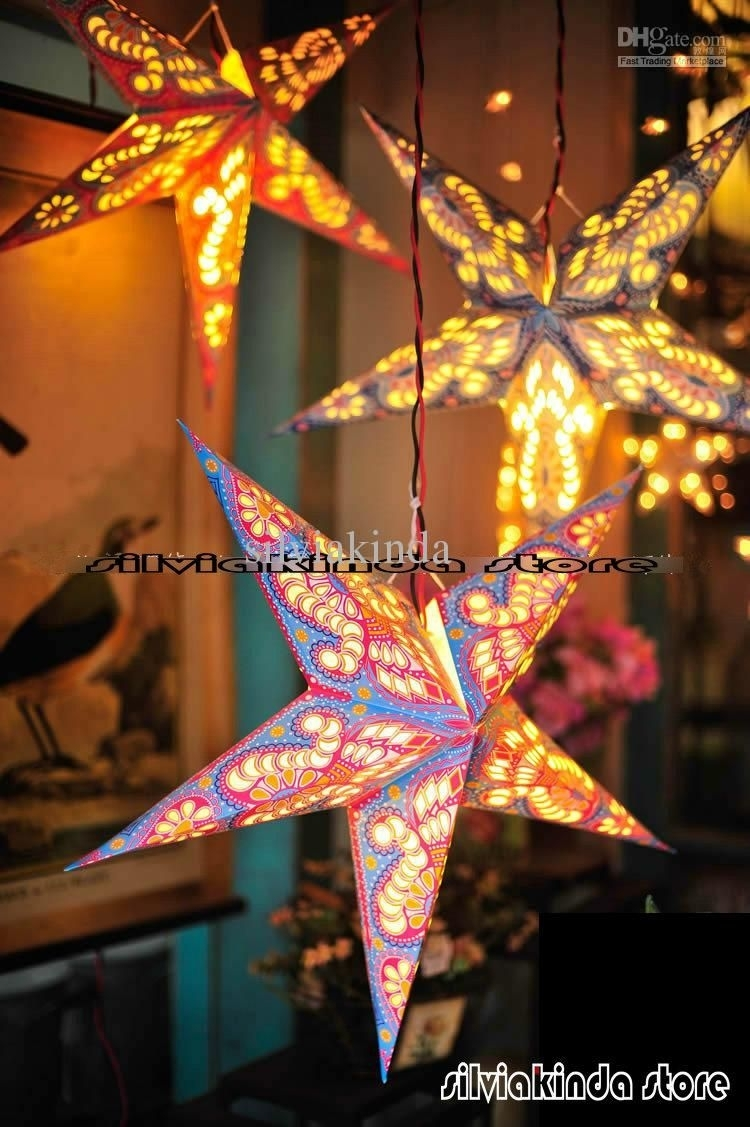 Diy : Hanging Star Lanterns Christmas Front Porch Decor Idea Outdoor In Outdoor Hanging Star Lanterns (#2 of 15)