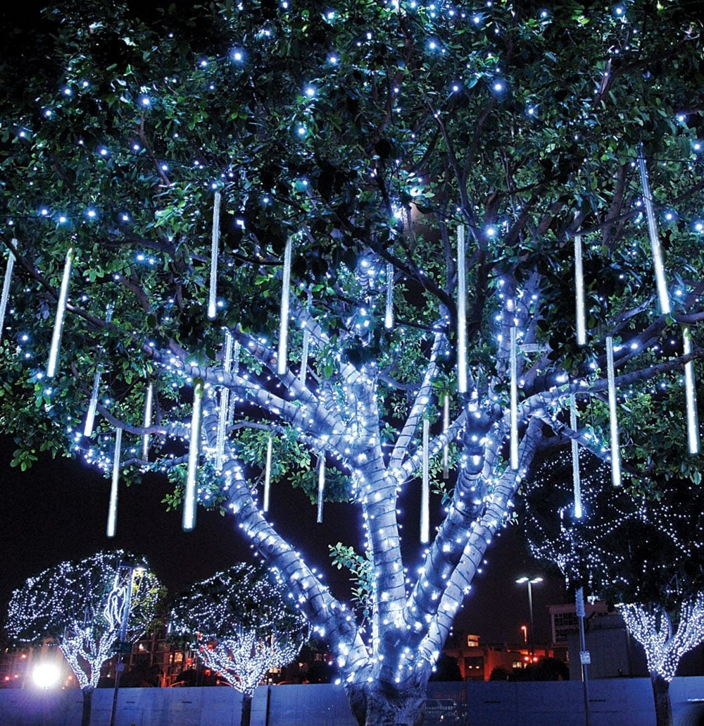 Diy : Innovative Ideas For Outdoor Christmas Decorations In Outdoor Low Voltage Hanging Tree Lights (View 10 of 15)