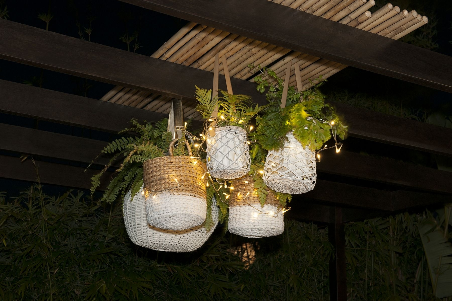 Inspiration about Diy Outdoor Decoration. Grab Various Sizes Of Hanging Baskets And With Outdoor Hanging Basket Lights (#13 of 15)