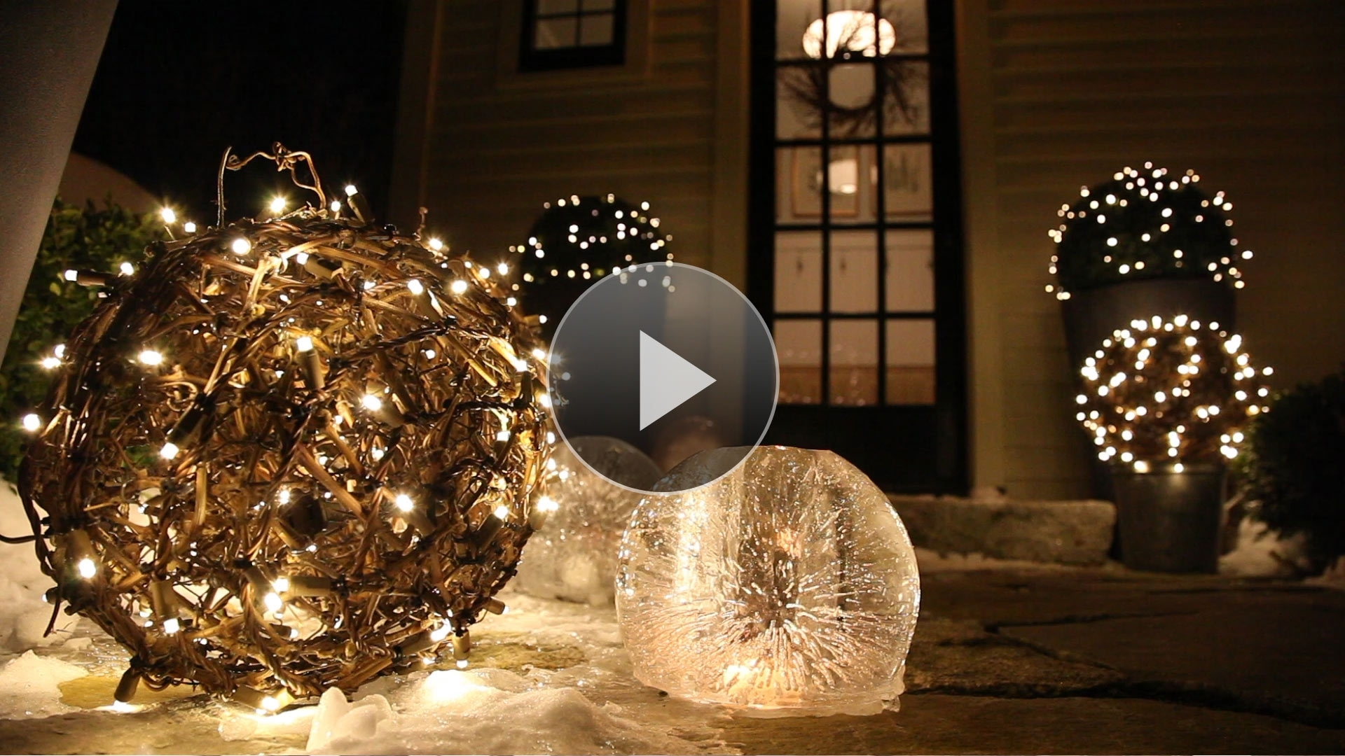 Diy : Outdoor Hanging Lit Spheres Balsam Hill Garden Sphere Lights For Outdoor Hanging Sphere Lights (View 8 of 15)